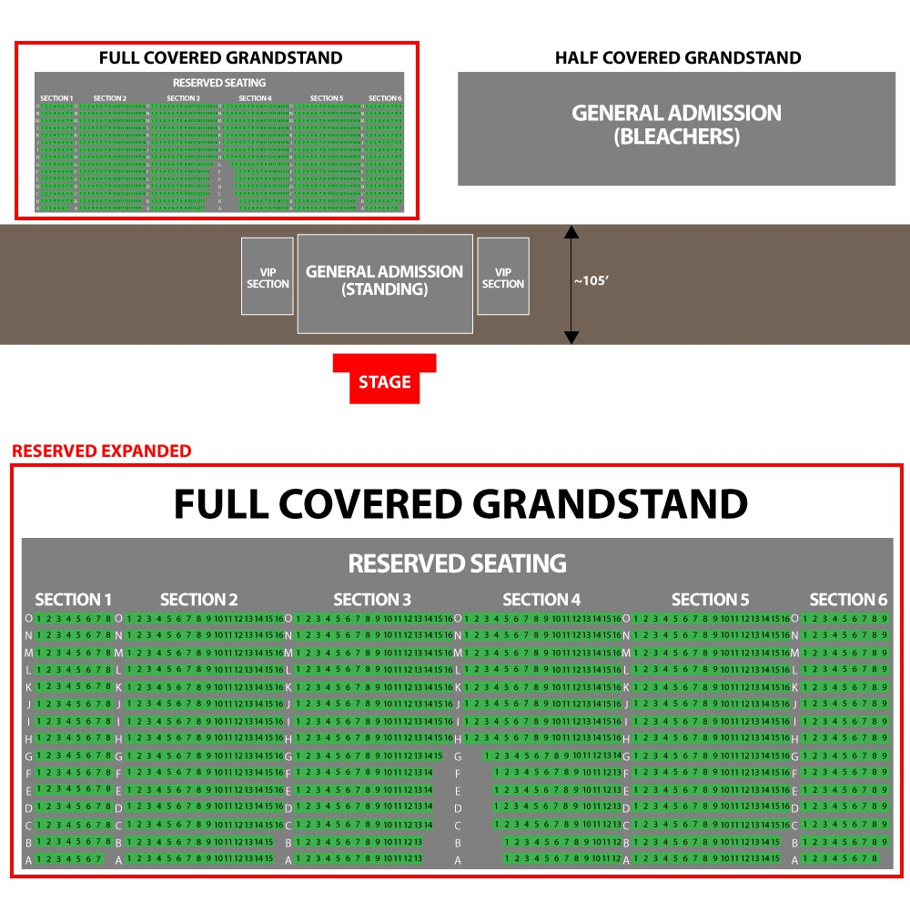 Grandstand Seating Chart